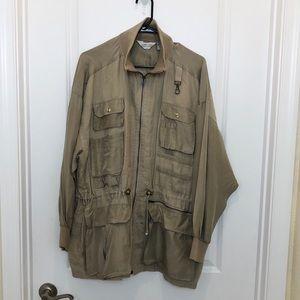 Sunny Leigh Vintage Tan Linen Silk Jacket XL